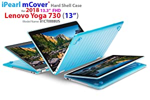"mCover Hard Shell Case for New 2018 13.3"" Lenovo Yoga 730 (13) Laptop (NOT Compatible with Yoga 710/720 / 910/920 Series) (Yoga 730 Aqua)"