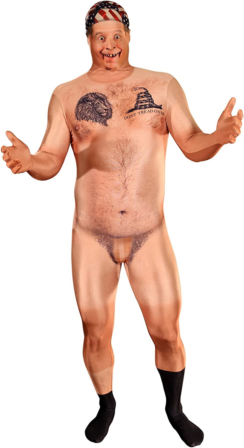 Morphsuits Official Censored Hillbilly Naked Man Costume, This Outfit Is Very Realistic
