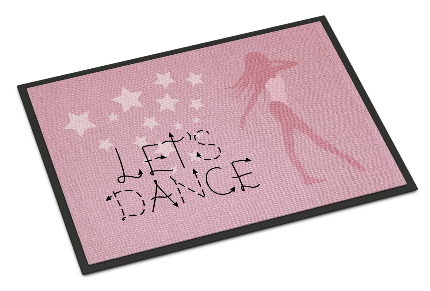 Caroline's Treasures Let's Dance Linen Pink Doormat, 24 H x 36 W'', Multicolor by Caroline's Treasures (Image #1)