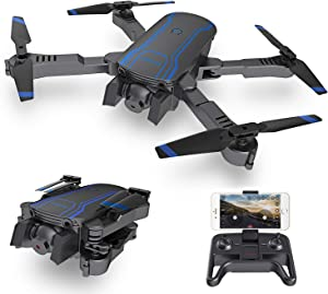 AKASO A300 Foldable Drone with Camera 1080P Camera FPV Drones Live Video Altitude Hold One Key Take Off/Landing RC Drone Best Gift for Boys and Girl Drone for Beginners Adults Kids