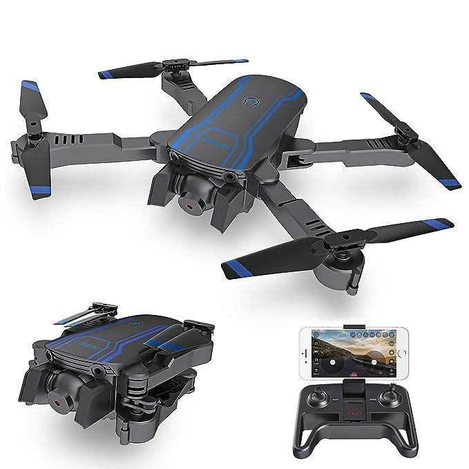 AKASO A300 Drone Plegable con Cámara 1080P HD Avión con WiFi FPV Control Remoto Modo sin Cabeza Volteos 3D Estabilización de Altitud RC Quadcopter Drone para Niños Principiantes Adultos