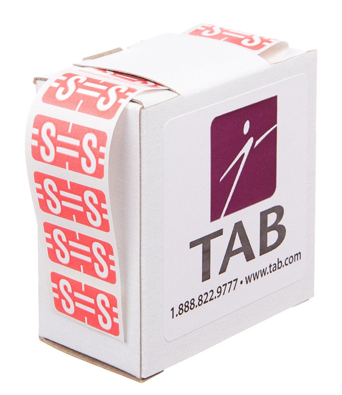 500 Labels//Roll X 1//2 TAB Alphabetic Folder Label Roll Light Blue