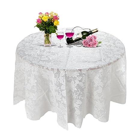 Amazon Com Round Tablecloth 70 Inch E Lip 180cm Heat Resistant