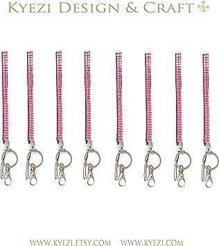 Crystal Rhinestone glitter jewelry wrist lanyard strap Key chain badge ID neck