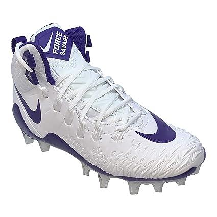 1f0e6f2904a6b Nike Men's Force Savage Pro Football Cleat (7, White/Court Purple)