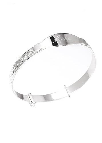 tout neuf a515c 9e8bd Bracelet gourmette extensible personnalisé en argent ...