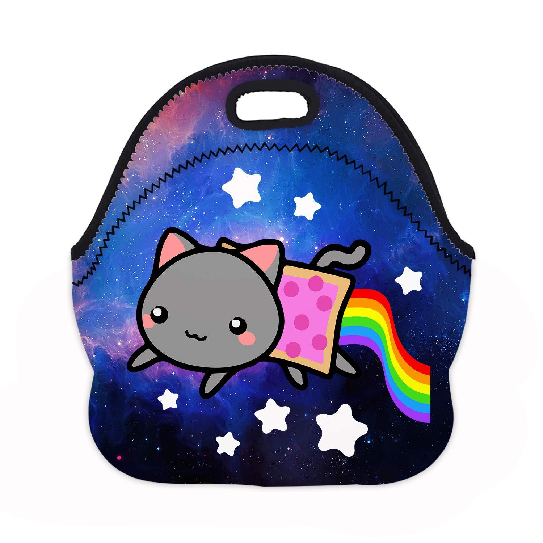 b07cea5b28da MOSDELU Boys Girls Nyan Cat Lunch Bag Insulated Lunch Tote Bento Bag  Lunchbox Handbags Outdoor Travel Picnic Carry Case