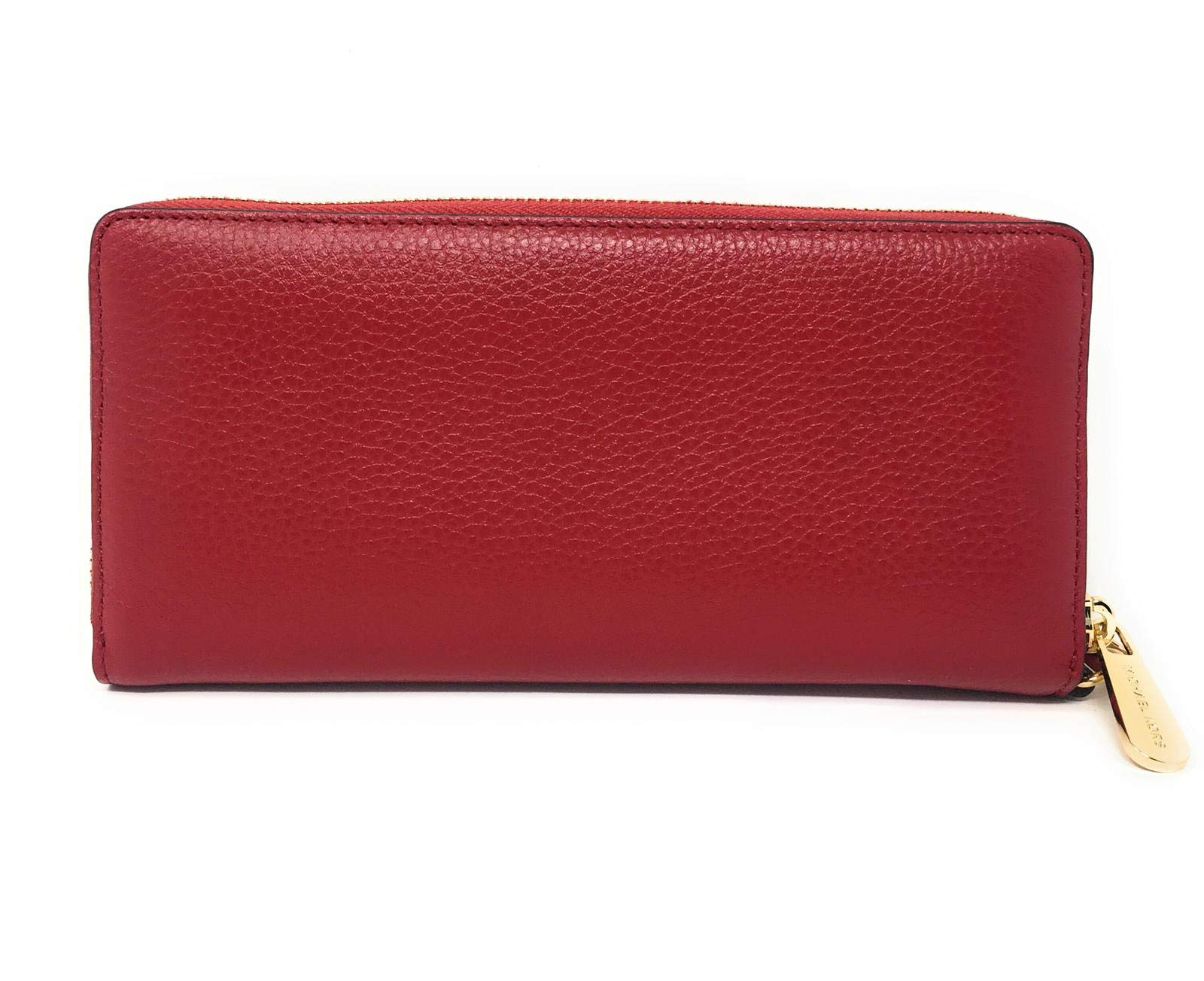 Michael Kors Jet Set Travel Continental Zip Around Leather Wallet Wristlet (Scarlet) by Michael Kors (Image #2)
