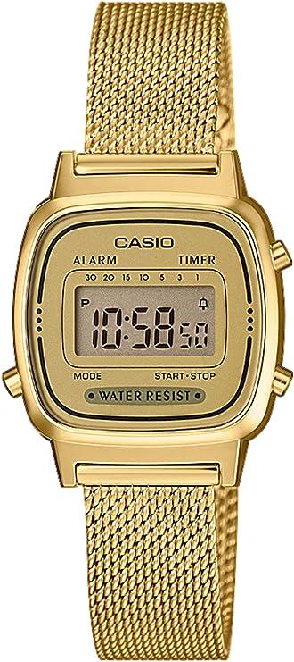 Reloj Digital de Cuarzo para Mujer de Casio con Correa de Acero Inoxidable Macizo