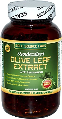 Organic Olive Leaf Extract Capsules – Pure Organic Olive Leaf Plus Standardized Oleuropein Extract, 90 Vegetarian Caps, 400 mg Maximum Strength Complex for Immune Health