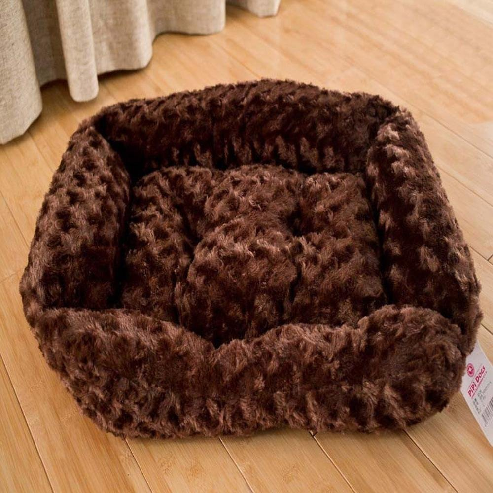 Dixinla Pet Bed Pet Mat Comfort Soft Pet Supplies Brown