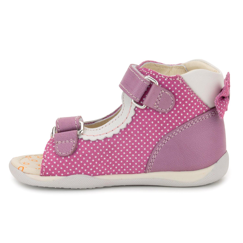 Memo Mini 1JE Baby Girl' First Walker Orthopedic Leather Anti-Slip Sandal, 19 (4 Toddler) by Memo (Image #6)
