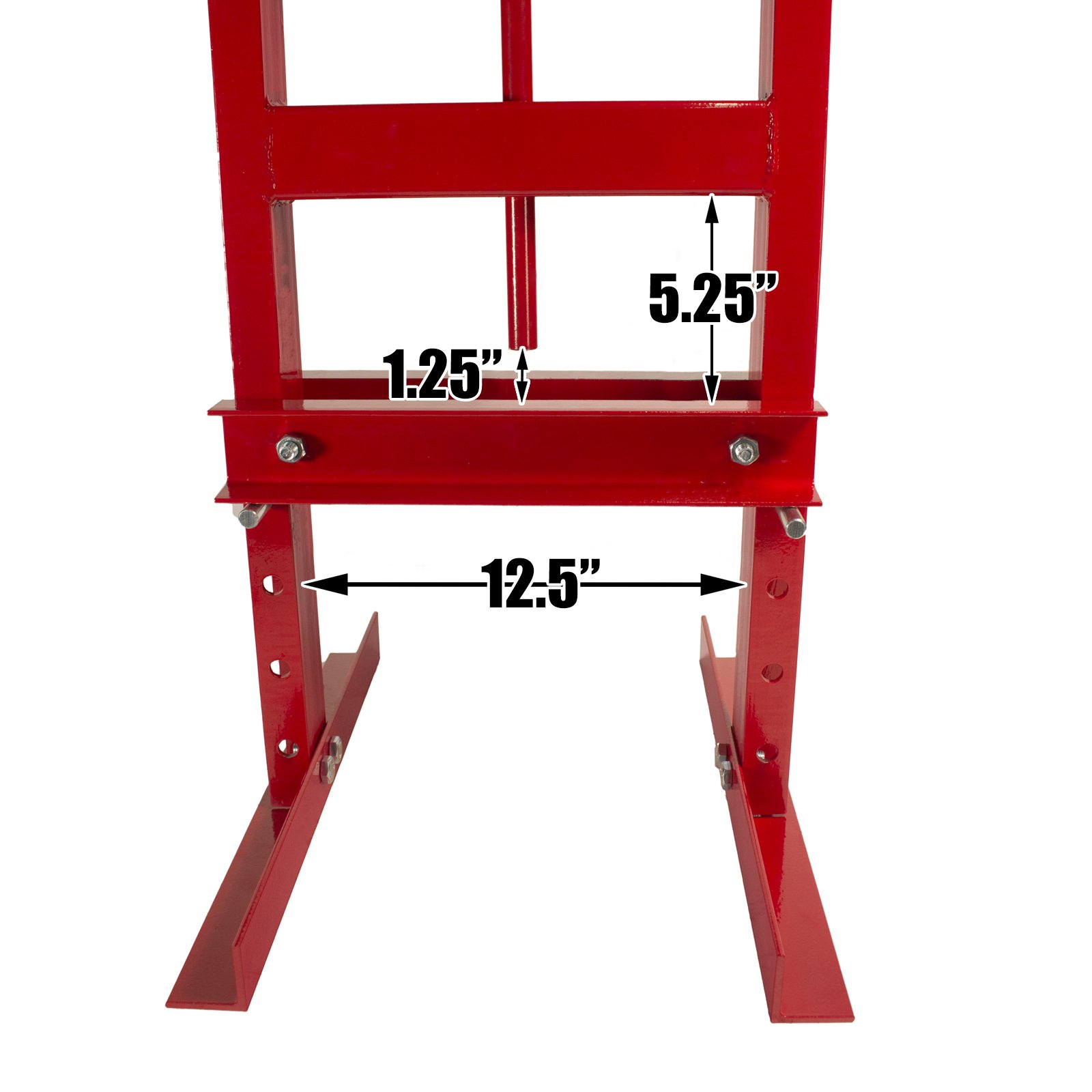 Dragway Tools 6-Ton Hydraulic Shop Floor Press with Press Plates and H Frame is Ideal for Gears and Bearings by Dragway Tools (Image #9)
