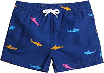 cc067eb832 MaaMgic Little Boys' Beach Trunk Toddler Swim Shorts Animal Patterned  Boardshorts Lightweight Beach Shorts Adjustable