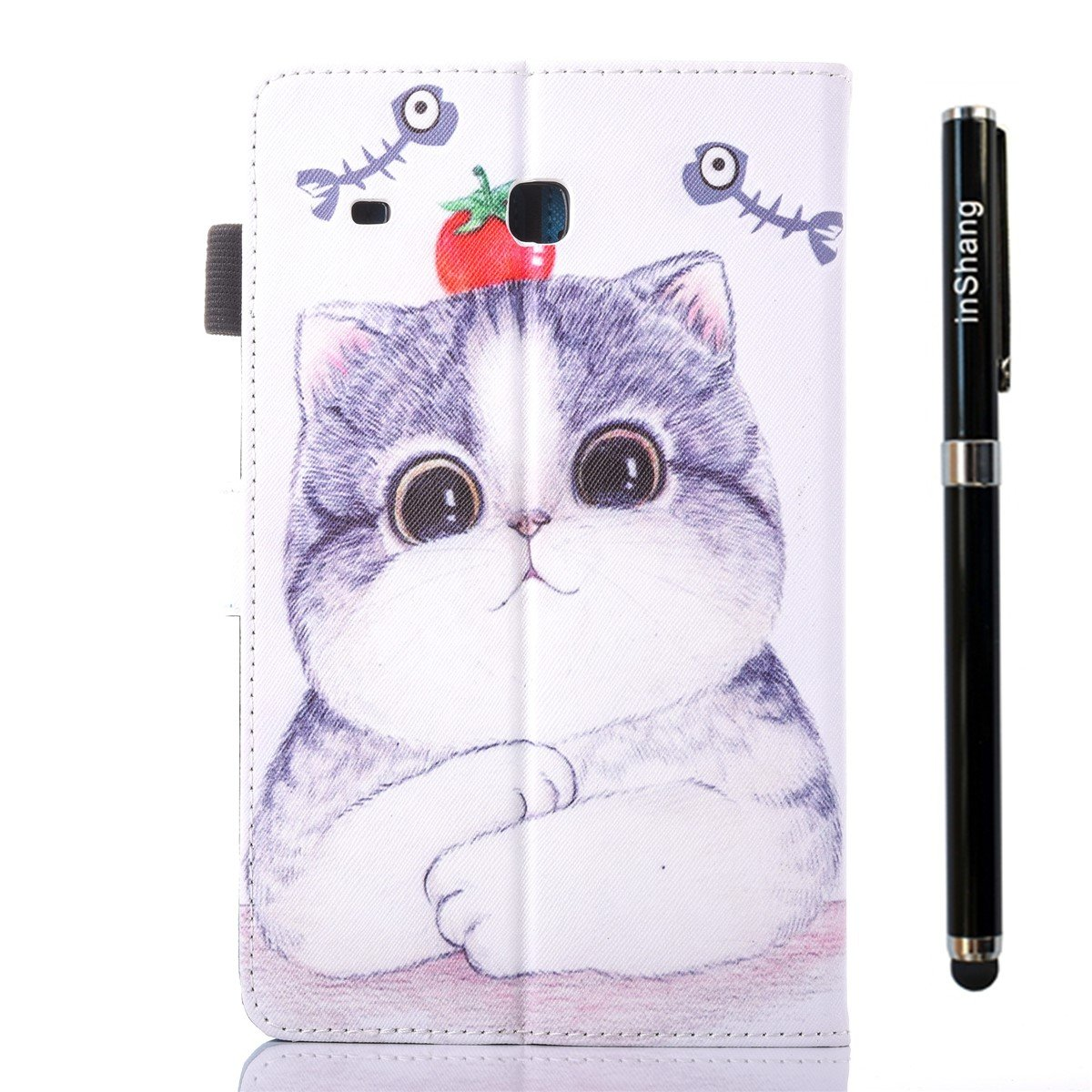 inShang T280 Case for Samsung Galaxy TAB A 7.0 inch T 280, with Color Painting Pattern, Stand Cover+1pc High end Class Business Stylus Pen