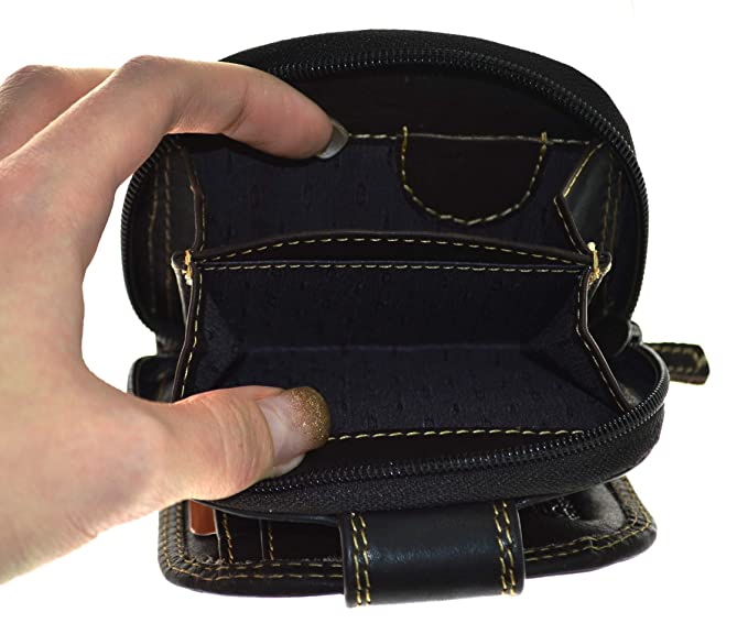 2740022b6deb82 Elegante kleinere Damen Leder Geldbörse in halbrund mit RFID Schutz  (braun): Amazon.de: Koffer, Rucksäcke & Taschen