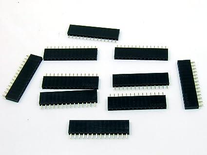 40Pin Polig Buchsen leiste stapelbar weiblich Header 2.54mm Arduino Raspberry