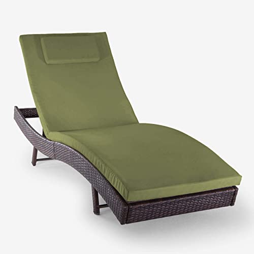 BrylaneHome Santiago Chaise Lounge w Free Chaise Cushion