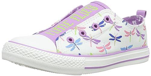 Hatley Dragonflies - zapatillas de lona niña, Blanc (White), 3 uk: Amazon.es: Zapatos y complementos