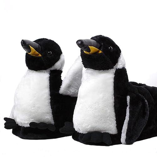 Sleeper z - Pingouin - Chaussons animaux peluche - Homme Femme Enfant - Cadeau  original 0ef385e9153