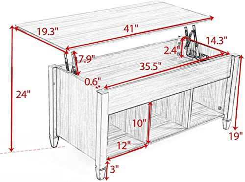 Modern Wood Lift-Top Coffee Table