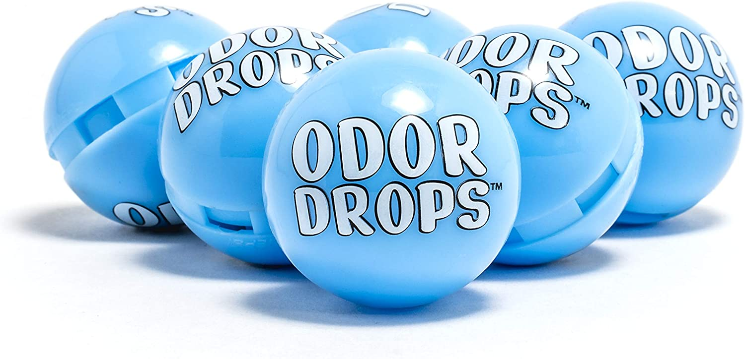 Odor Drops Shoe Deodorizer Balls for Neutralizing Odor and Refreshing Sneakers, Gym Bags, Lockers and Cars 6 Pack