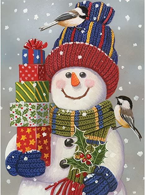 by artist Janet Stever Winter Friends Bits and Pieces 300 Large Piece Puzzle