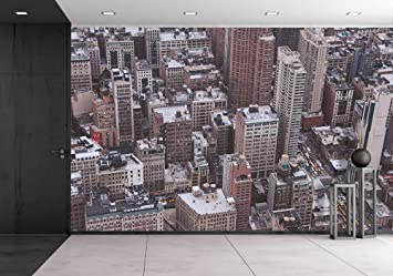 wall26 aerial view of metropolitan area in new york city