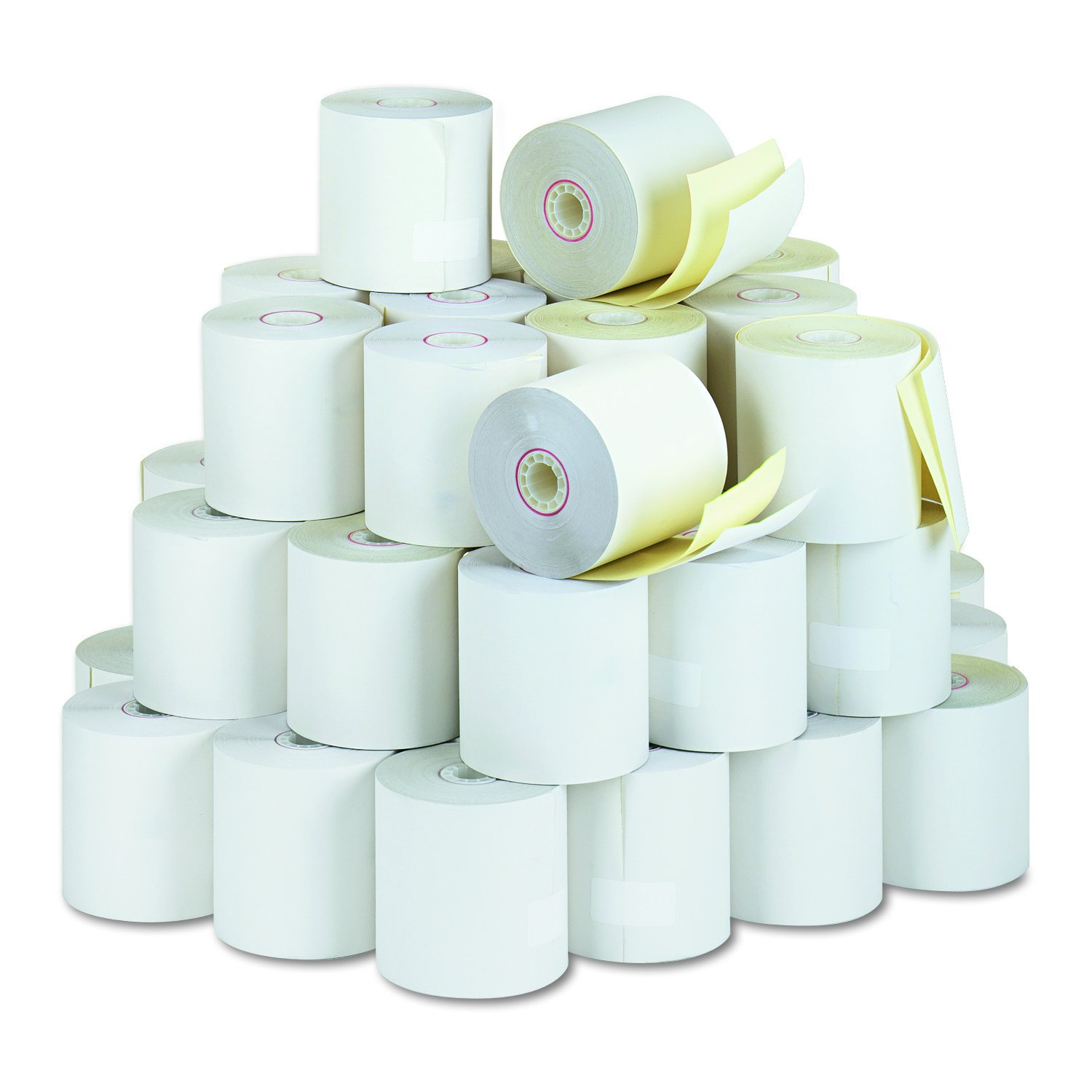 PM Company 07706 Carbonless Duplicate Cash Register Rolls, 3'' X 90', White/Canary, 50 Rolls/ctn by PM Company (Image #2)