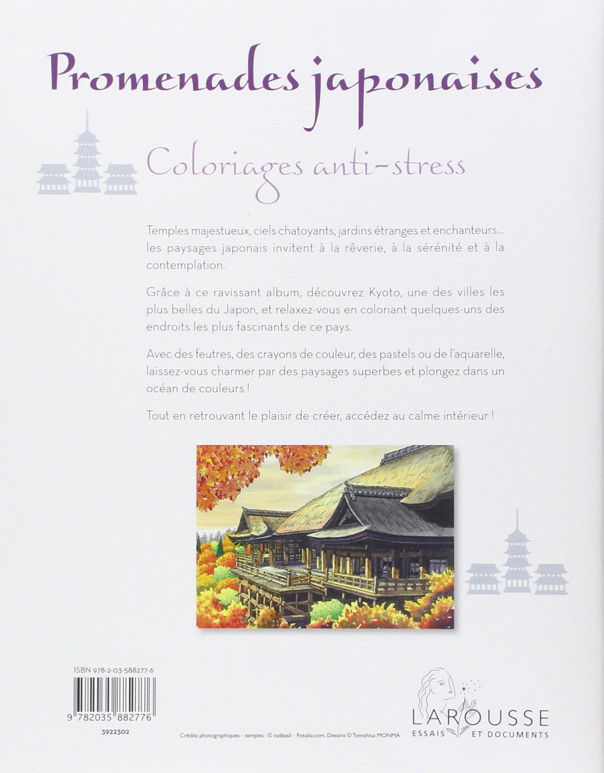 Amazon Promenades japonaises Coloriages anti stress Collectif Livres