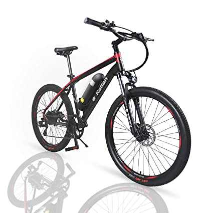 72f6639a5aa Amazon.com : Rattan 26 inch Aluminum Electric Mountain Bike Shimano 7 Speed  E-Bike 36V 10.4Ah Lithium Battery 350W Electric Bicycle 26 inch Adult  Assisted ...