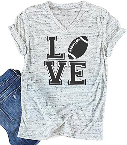 YUYUEYUE Lets Do This Boys Letter Print T Shirt Women Baseball Mom Cute Graphic Short Sleeve Casual Tops Tee