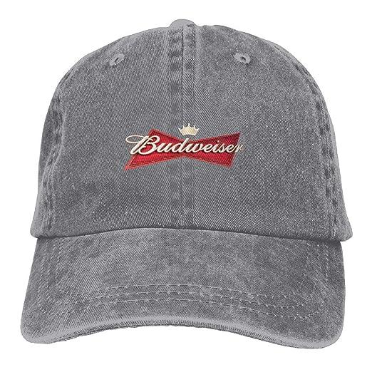 207f26e4c97d2 Amazon.com  Unisex Budweiser Beer Logo Baseball Cap Cowboy Hat Adjustable  Snapback Adult  Clothing