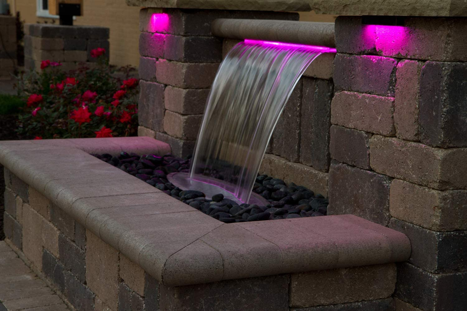 """Atlantic Colorfalls Color Changing Pond Water Garden Waterfall 24/"""" Weir"""