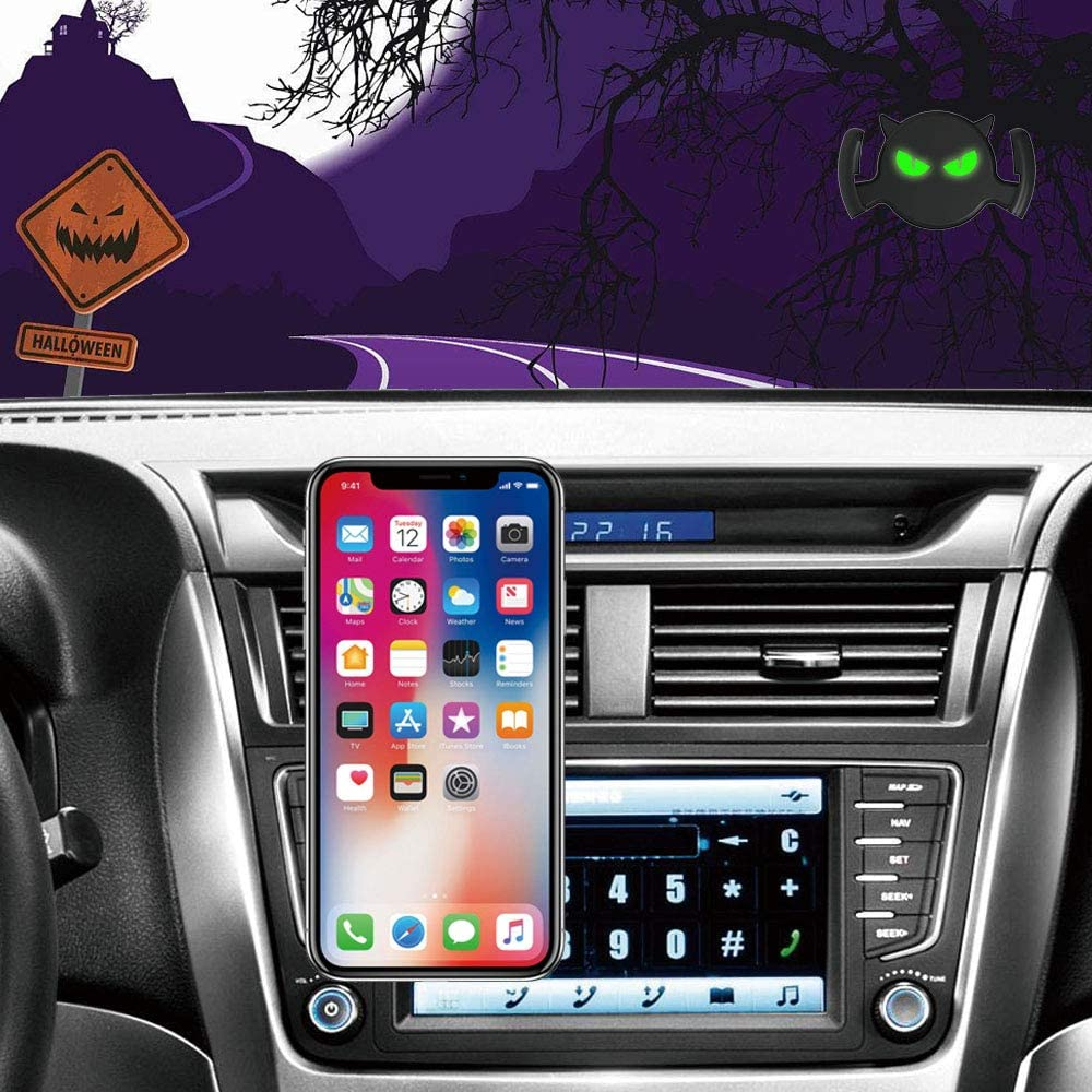 Quarble Little Devil Glowing Eyes 2 in 1 Car Air Vent Dashboard Mount Compatible with Pop Expanding Phone Grip and Stand All Cool Idea Black