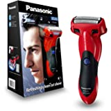 Panasonic Rechargeable Electric Cordless Wet/Dry ES-SL41 Mens 3 Blade Shaver, Red