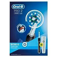 Oral-B PRO 22500 CrossAction - Pack con un cepillo de dientes eléctrico recargable, un cabezal de recambio y un estuche de viaje