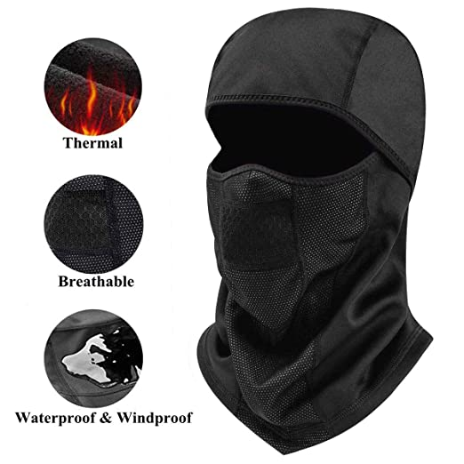 Balaclava Face Mask Cold Weather Hats for Men Women Winter Windproof  Waterproof Thermal Fleece 7aa9169ffdb