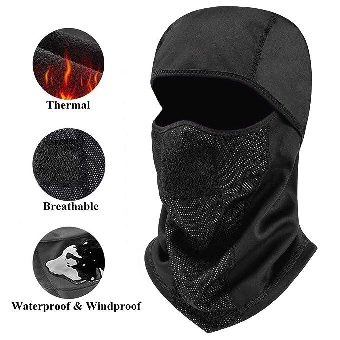 Balaclava Face Mask Cold Weather Hats for Men Women Winter Windproof  Waterproof Thermal Fleece 67c6cb6123