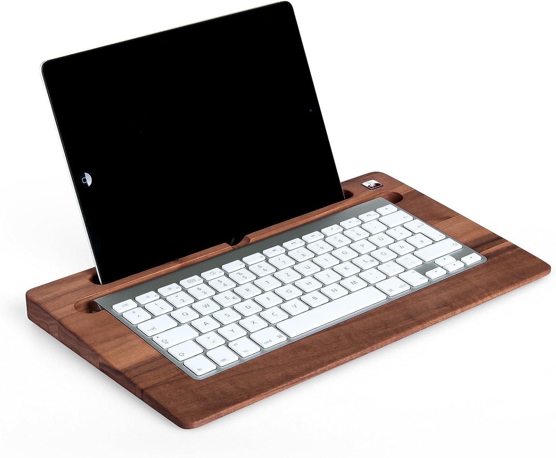 Woodys TabletTray - Soporte para teclado y tablet (madera de ...