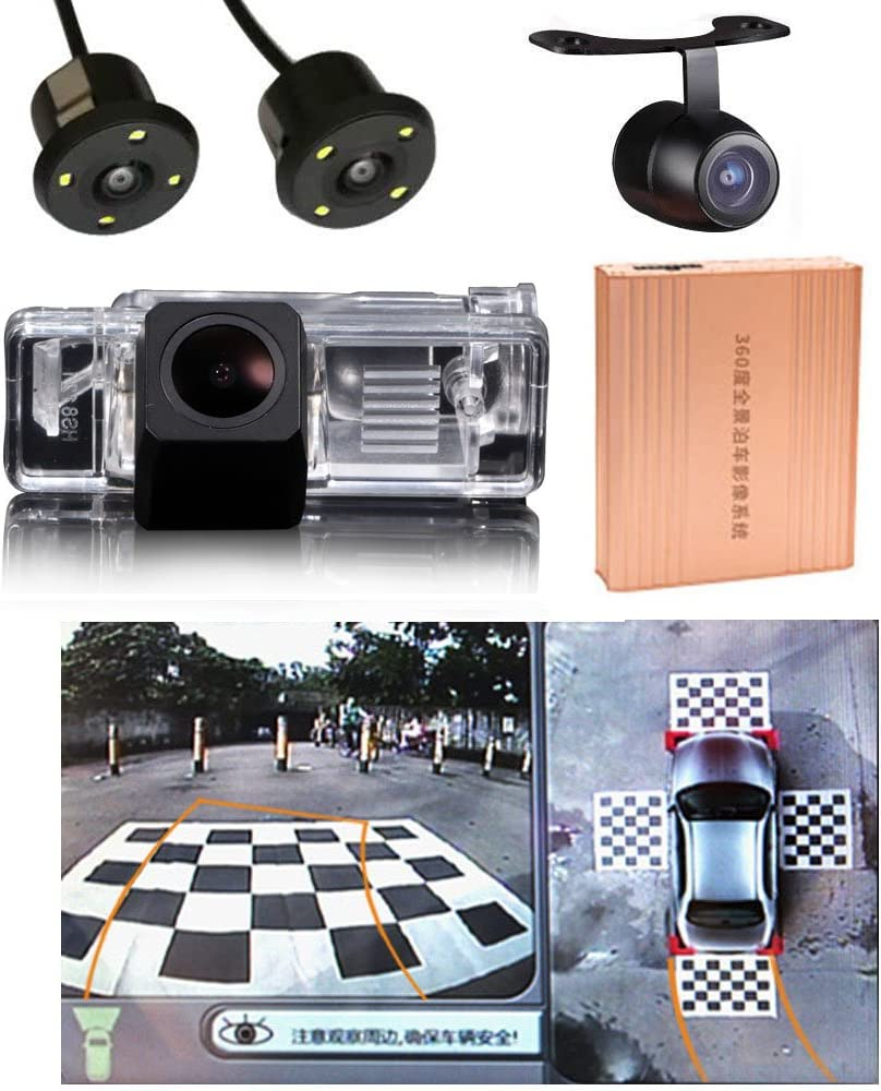 Misayaee Rear View Back Up Reverse Parking Camera in License Plate Lighting Night Version for Mercedes Benz Vito 2004-2012 Viano 2004-2012 Sprinter Van NTSC