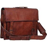 vintge crafts clásico artesanía auténtica de los Hombres Messenger–Maletín para portátiles de Piel Satchel Bolsa de Mens