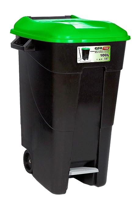 Tayg T-421037 Cubo Basura, Verde, 100 l