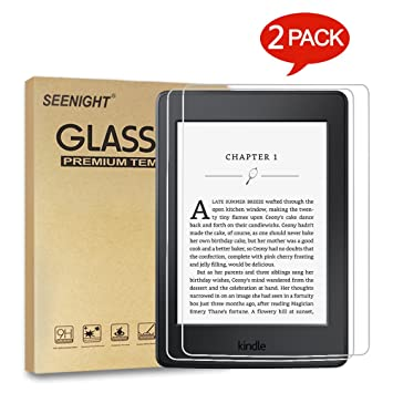 [2-Pack] Tempered Glass Screen Protector for Kindle E-Reader 6-inch 2016  (8th Gen), Amazon Kindle Paperwhite 1 2 3 (2012 2013 2014 2015 Release) and
