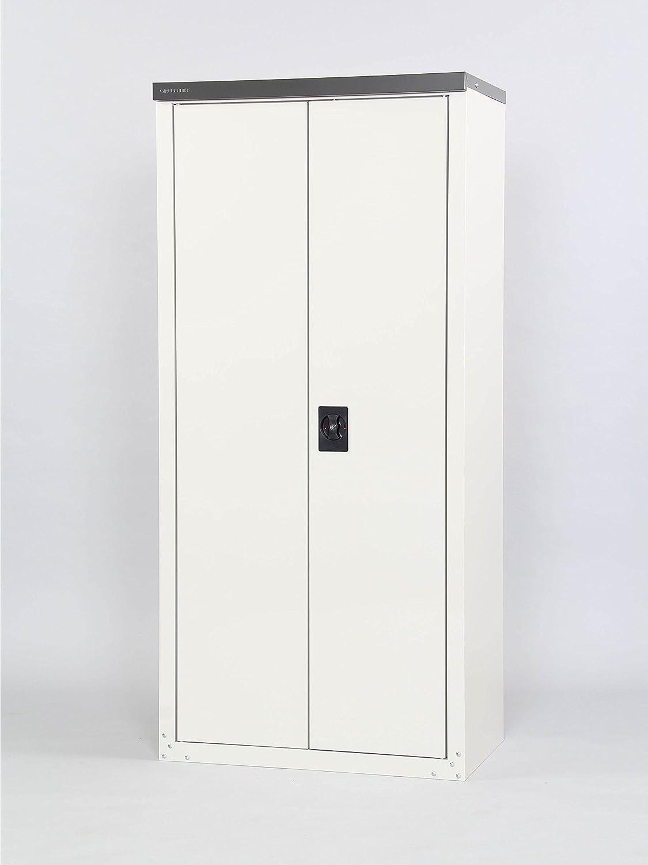 【物置倉庫】【物置 収納】耐荷重15kg サビに強い紛体塗装で丈夫で長持ち 丈の長い物もラクラク収納できる 半分棚の 家庭用 収納庫 ワイド 162 B06XD1W959 24912