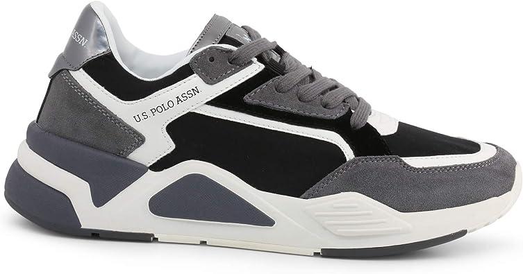 Sneaker Polo in Pelle e Camoscio con para in Gomma Bicolore ...