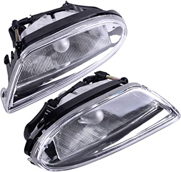w//o Round Fog Lights Primed For Mercedes Benz ML320 // ML350 // ML430 // ML500 Valance 1998-2005 Front Driver Side Lower 1638851325 Plastic MB1093104 Spoiler