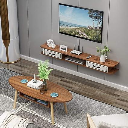 Mueble TV de Pared Estantes flotantes Estante de la Pared Set Top ...