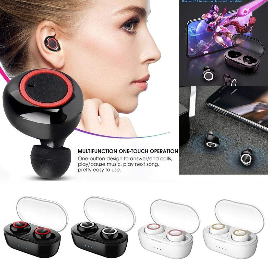 Pinsparkle Bluetooth Binaural Wireless Stereo Sports Earphone TWS with Mobile Power Bank Bluetooth Headsets