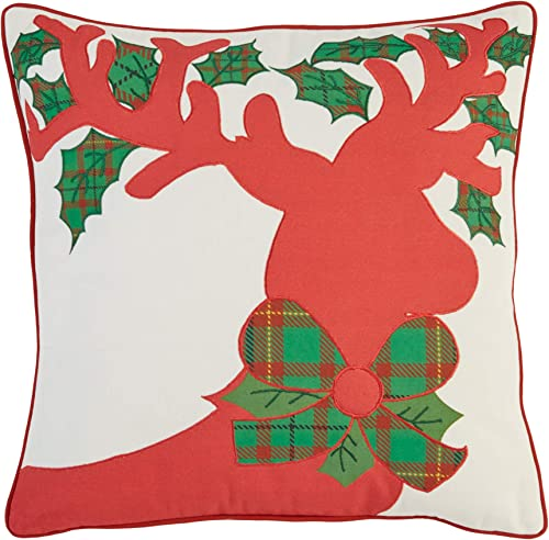 BrylaneHome Holiday Decorative Pillows, Reindeer